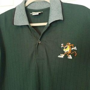 Vtg Cheetos embroidered men's green polo shirt XL